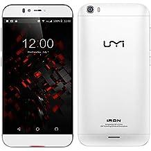 "Umi Iron Pro - Smartphone libre Android (pantalla 5.5"", cámara 13 Mp, 16 GB, Octa-Core 1.3 GHz, 3 GB RAM), plateado"