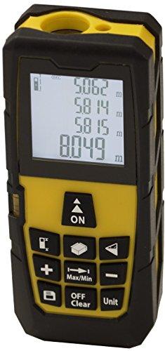 Preisvergleich Produktbild Bollmex Entfernungsmesser Laser Digital Messgerät Distanz Flächen Volumen Messung Wasserwaage Messbereich bis 40 m gelb