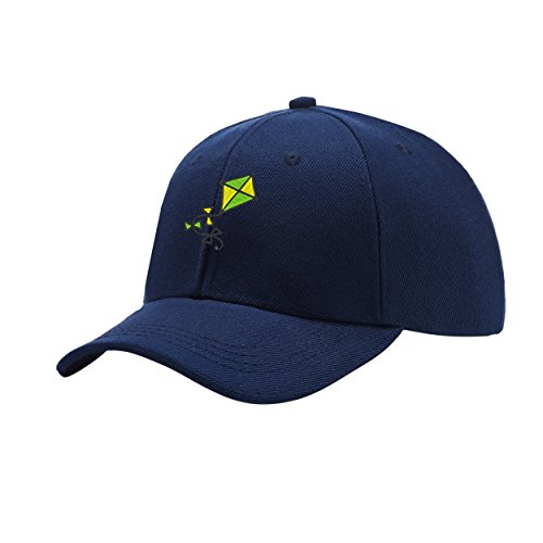 2e1d6c2266a NeeKer Kite Color Navy Blue Peaked Hat Embroidered Logo Adjustable Dad Cap