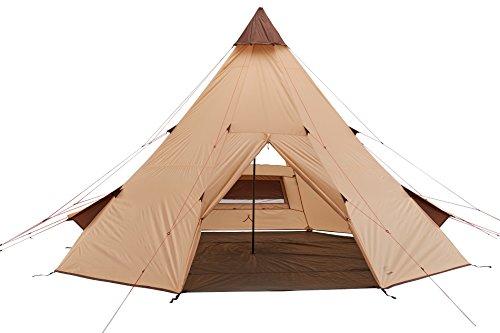 Grand Canyon Tepee - Tipi / Indiana Zelt, für 8-Personen, für Gruppen, Camping, Outdoor, Abenteuer, Glamping, beige, Ø 500 cm, 602018