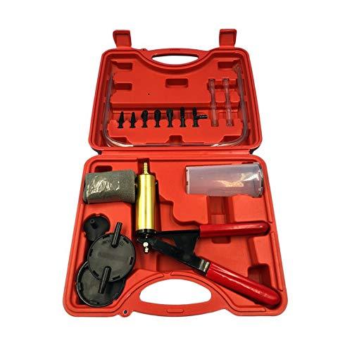 CamKpell 2 in 1 Auto Auto Bremsflüssigkeit Entlüfter Adapter Ölwechsel Handvakuumpistole Pumpe Tester Kit DIY für Alle Fahrzeuge - rot