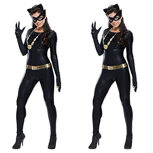 XSMG Brevetto Pelle Jumpsuits Donna Lingerie Pole Dance Catwoman Uniforme Allettare Costumi Femminili Nightclub DS,01,XL