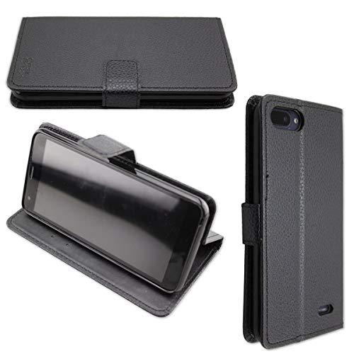 caseroxx Hülle/Tasche Bookstyle-Case Archos Core 55S Handy-Tasche, Wallet-Case Klapptasche in schwarz