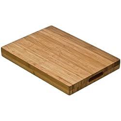 Premier Housewares - Tabla de cortar con agarres maciza (bambú)