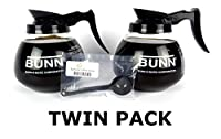 Twin Pack - 3 Pint Replacement Commercial Glass Filter Coffee Decanter / Jug