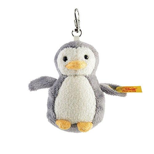 Steiff 112409 - Schluesselanhaenger Pinguin 8, grau/weiß
