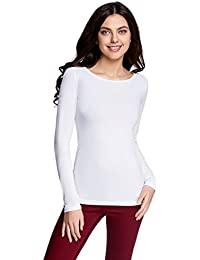 oodji Collection Femme T-shirt Manches Longues