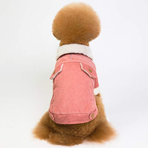 POPETPOP Winddichter Hundemantel verdickt kaltes Wetter Berber Fleece warme Hundeweste Winter Hundebekleidung für kleine mittelgroße Hunde Größe s (pink) -