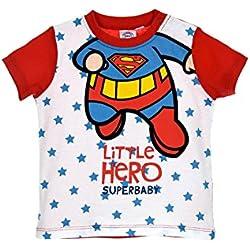 Superman Camiseta - para bebé Niño Blanco/Rojo 24 Meses