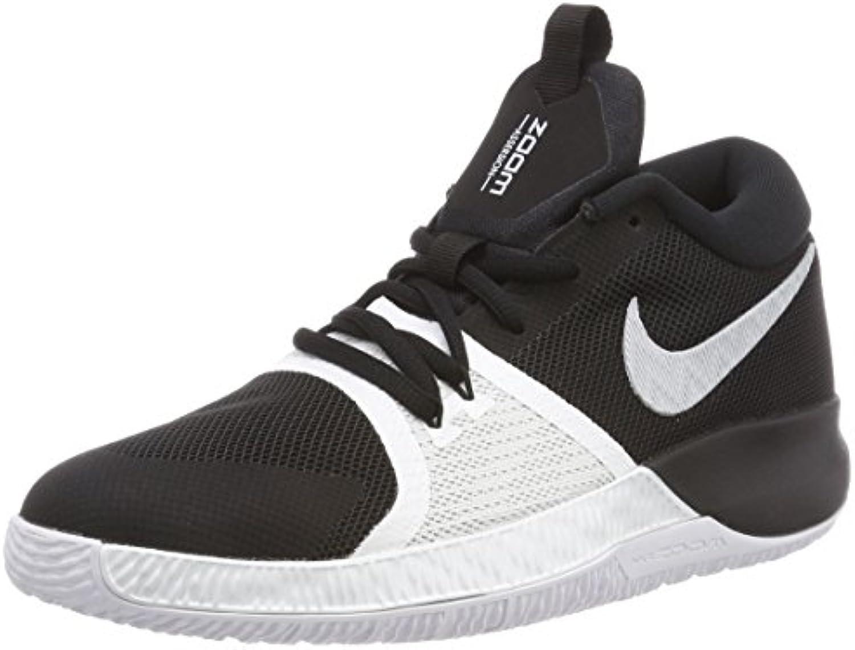 Nike Zoom Assersion (GS), Zapatillas de Baloncesto para Hombre, Multicolor (Black/Pure Platinum/White 001), 39 EU