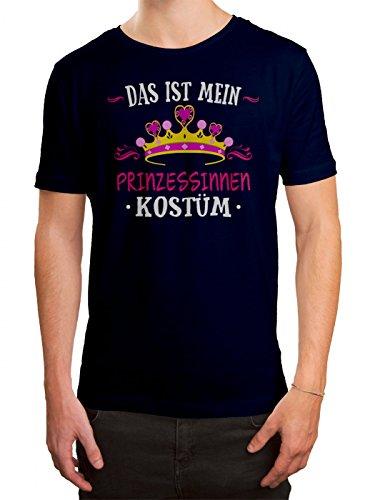 remium T-Shirt Verkleidung Karneval Fasching Herren Shirt, Farbe:Dunkelblau (French Navy L190);Größe:S (Prinzessin Kostüme Für Männer)