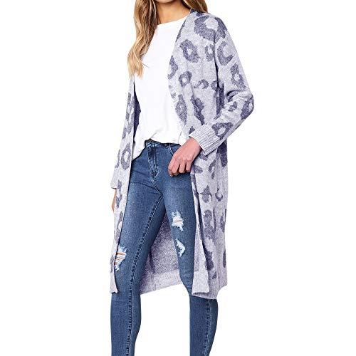 ABsoar Mantel Damen Jacke Mode Frauen Gestrickte Leopardenmuster Langarm Strickjacke T-Shirt Pullover Mantel Kunstpelz Outwear