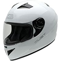 NZI Must Casco de Moto, Blanco, 54 (XS)