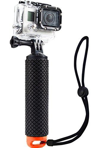Wasserdichter, schwimmender Handgriff (schwimmende Stange & Griff & Tauchendes Einbeinstativ & schwimmender Stab), kompatibel mit allen GoPro-Kameras Hero 4Session Black Silver Hero 233+ 45(orange)