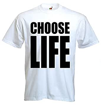 Choose Life T-shirt - Light Grey - Small