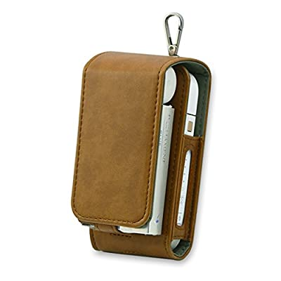 iQOS Case Electronic Cigarette Protective Holder Cigar Cover iQOS Wallet Case Electronic Cigarette PU Leather Carrying Case Box with Card Holder by JOMA-E Shop