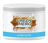 Green Hero Lederseife, 500 ml, Lederreiniger inkl. Reinigungsschwamm für Glattleder, Auto, Schuhe,...