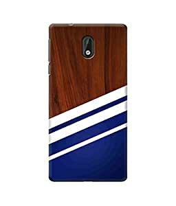 Be Awara Wooden Navy Style Printed Back Case Cover for Nokia 3