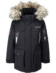 Kozi Kidz Parka - Chaqueta de esquí para niño, color negro, talla UK: 120 cm