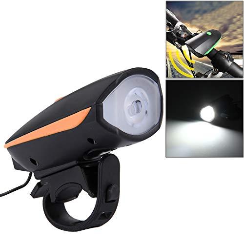 Lanbinxiang@ Éblouissement Rechargeable par USB de 125 / 250LM 3 Modes LED avec Le Haut-Parleur et la poignée, Taille: 9.5 * 5 * 3.5cm sécurité (Couleur : Orange)