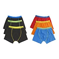 Hari Deals Boys Children Boxers Trunks Underwear Shorts Pants 5-6 Years White