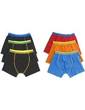 Los niños los niños ropa interior Boxers Troncos Pantalones Cortos Pantalones (6unidades, 2–13años
