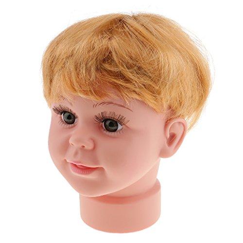 MagiDeal Baby Kind Schaufensterpuppe Schaufenster Dekokopf mit Perücke, hübsch Modellkopf,...