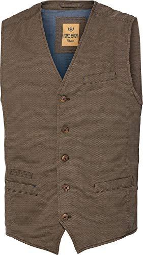 Franco Bettoni Herren Weste in Camel: mit Stretch-Anteil, Vintage-Look, ideal zu Jeans, Chinos, Hemden & Shirts, Gr. 50-54 - Klassischen Look Wolle Anzug