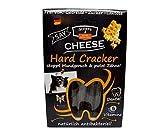 QCHEFS Hard Cracker | Hunde Zahnpflege-Snack| Kauknochen Welpen & klein- zum Kauen & Spiel | gegen Mundgeruch & Zahnfleischentzündung & Zahnstein| | Leckerli| Hüttenkäse - natürlich antibakteriell