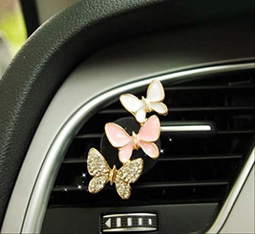 Automobile del Profumo dell'automobile del Profumo dell'automobile del Profumo della Farfalla del Fiore del Diamante con La Signora del Balsamo della Clip Dell'Uscita di A