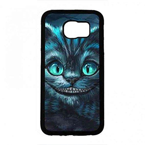 Samsung Galaxy S6 Handy Zubehör,Cheshire Cat Handy Zubehör,Grinsekatze Handy Zubehör,Alice In Wonderland Handy (Cheshire Zubehör Cat)