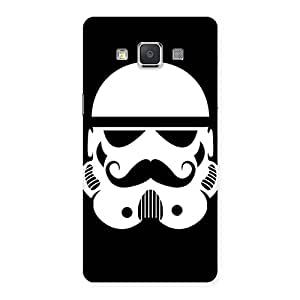 Gorgeous Mustach Black Back Case Cover for Galaxy Grand Max