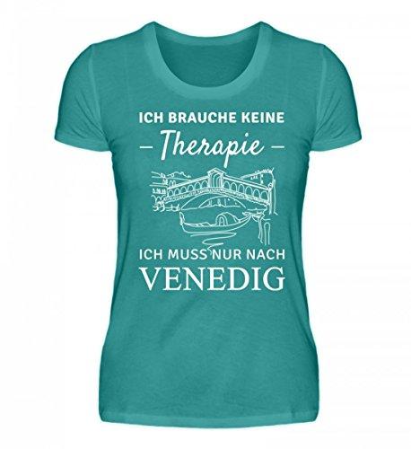 Shirtee Hochwertiges Damen Organic Therapie Venedig, was Braucht ES Mehr?! Atollblau