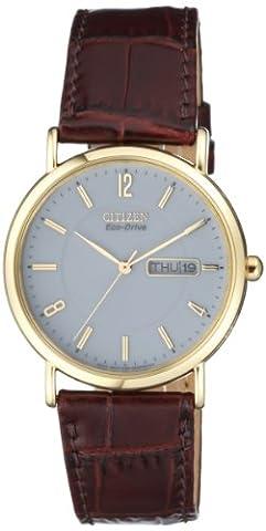 Citizen - BM8243-05AE - Montre Homme - Quartz - Analogique - Solaire - Bracelet cuir Marron