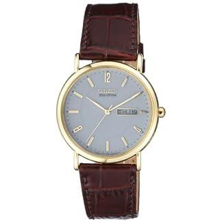 Citizen BM8243-05AE – Reloj analógico de Cuarzo para Hombre con Correa de Piel, Color marrón