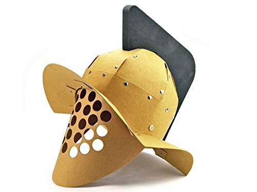 g Murmillo - Gladiatoren-Helm mit Helmbusch - Forum Traiani - Gladiator Larp Helm - Gladiatorenkämpfe für Kinder - Archäologische Museum Repliken - Imperium der Römer (Römische Götter Und Göttinnen Kostüme)