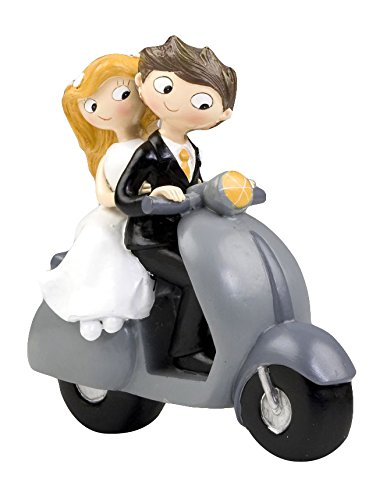 Mopec Figura de Pastel Pareja de Novios Pop & Fun en Moto,...