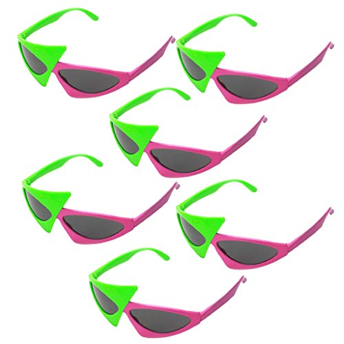 IPOTCH 6er Set Lustige Spaßbrillen Partybrillen Halloween Brillen Party Kostüm Zubehör