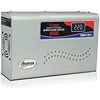 Microtek EM4160+ Automatic Voltage Stabilizer for AC up to 1.5 ton (160V-285V), Metallic Grey – Digital Display, Wall…