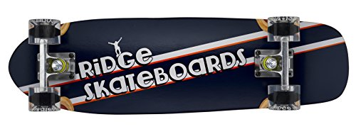 Ridge Skateboard Skunkslider Old School Kurzen Minikreuzer Short Cruiser Komplett, Klar, 69 cm