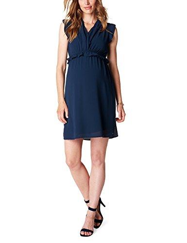 esprit maternity kleid ESPRIT Maternity Damen Umstands Kleider Dress Sl P84277, Blau (Night Blue 486), 38 (Herstellergröße:38)
