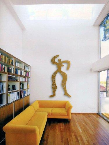 "Sibylle Rettenmaier Wand Skulptur ""FLORESSE"" Moderne Kunst – Skulptur aus Metall 130 cm hoch"