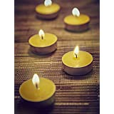 Festive Yellow Sandalwood Aromatic Tea Light Candles - Set Of 30 From RESONANCE