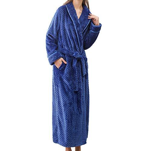 Amphia - Paar Modelle Damen Winter Lange Dicke Yukata langärmlige Morgenmantel,Frauen Winter verlängert Bademantel Home Kleidung Schal langärmeligen Robe - Übergröße Comic Mädchen Kostüm