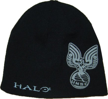 Halo: Usnc Imprint and Text Wrap Reversable Beanie Cap Hat (Text Beanie)