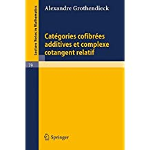 Categories Confibrees Additives et Complexe Cotangent Relatif (Lecture Notes in Mathematics)