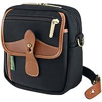 Billingham Pola Stowaway Bag - Borsetto multiuso, colore: Nero/Marrone chiaro