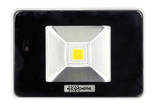 ECOBELLE 1 x Foco Proyector LED 10W con Sensor Microwave de Movimiento...