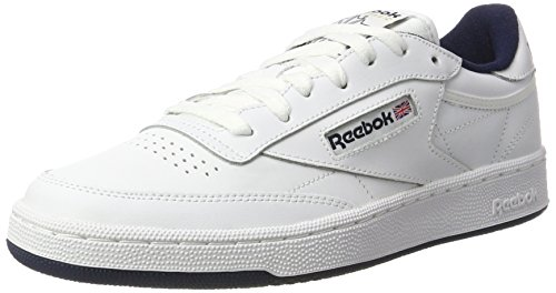 Reebok Herren Club C 85 Sneakers, Weiß (Intense White / Navy), 45 EU