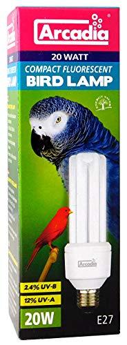 Arcadia FBC20X Bird Lamp, Compact 20W, UV-Lampe für Exoten, E27 -